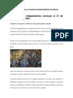 LAS ETAPAS DE LA GUERRA DE INDEPENDENCIA DE MÉXICO