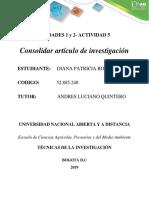 Actividad 5 - artículo de investigación - DIANA PATRICIA RODRIGUEZ