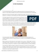 Revista de Logística Efectividad en control de inventarios