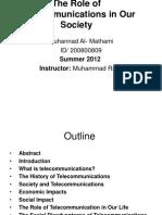 role of telecommunication