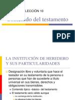 LECCION 10.- EL CONTENIDO DEL TESTAMENTO