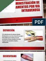 Administración de medicamentos por via intravenosa