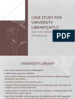 Case study for University Library (Thet Htet Nyein)