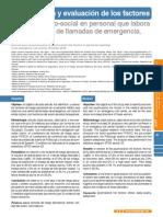 Identificación y evaluación de los factores riesgo psicosocial en una empresa de llamada de emergencias