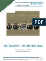 Parts manual Kholer KDI 1903 - 2504