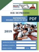 MATEMATICA 2° SECUNDARA_ECR PROCESO 2019