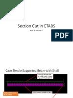 Section Cut in ETABS