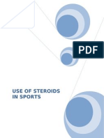 Research Paper on Use of Steroids in Sports