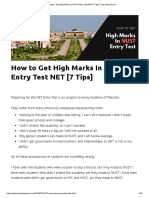 How to Get High Marks In NUST Entry Test NET [7 Tips] _ Top Study World