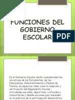 FUNCIONES GOBIERNO ESCOLAR