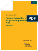 Income-Based Fare Program Implementation Plan