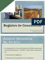 3.5 Registro de Consultores