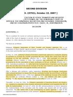 04 Phil. Assoc'n of Stock Transfer and Registry Agencies, Inc., v. CA, et al., 539 SCRA 61 (2007)