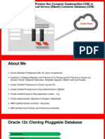 Hot Cloning of On-Premise Non Container Database(Non-CDB) to Oracle Database Cloud Service (DBaaS) Container Database (CDB)