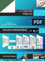 LA ÉTICA Y LA FUNCIÓN PÚBLICA-DIAPOSITIVAS
