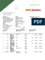 autozone invoice