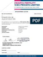 Appointment letter CNP