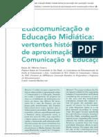 artigo Ismar -  Educomunicação e Educação Midiática_ vertentes históricas de aproximação entre comunicação e educação