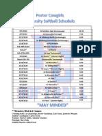 porter cowgirls 2020 schedule final