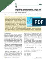 Mechanisme de capture de CO2 dans le MEA