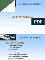 Auditor Training Performance