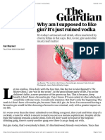 Why am I supposed to like gin? It's just ruined vodka | Food | The Guardian