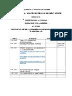 ESQUEMA DE JORNADA DE VALORES
