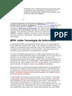 BPM GERENCIAMENTO DO PROCESSO DE NEGÓCIOS