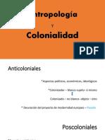 unidad I- Antropologia y colonialidad
