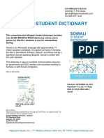 Somali Student Dictionary Release
