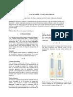 FLOTACIÓN Y FUERZA DE EMPUJE
