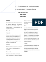 Tarea 2 - Fundamentos de Semiconductores  análisis en corriente altera y corriente directa  Miguel Angel Herrera Trivino Grupo 100414_65 Codigo 1023890745