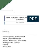 Model predictive control of industrial processes