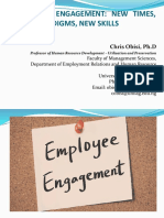 Employee Engagement - New Times, New Paradigms, New Skills (180919)