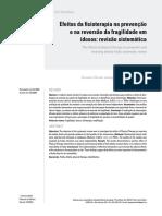 Efeitos da fisioterapia na prevenção e na reversão da fragilidade em idosos revisão sistemática