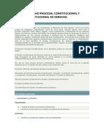 DERECHO PROCESAL CONSTITUCIONAL conceptualizacion
