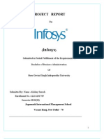 Infosys Project Report