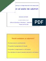Misurazioni ed analisi dei substrati