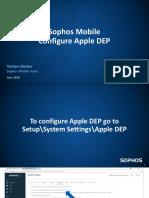 Sophos Mobile Configure Apple DEP - Business Manager
