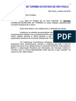 2019 - Modelo Projeto de Lei  COMTUR.