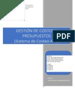 TAREA N°1 GESTION DE COSTOS Y PRESUPUESTO