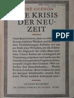 René Guénon 1927-Die Krisis der Neuzeit.pdf