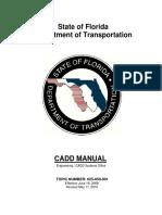 FDOT CADD Manual - 2008