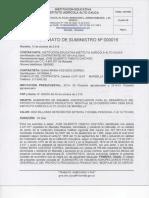 Contrato de Suministro Nº 016 Diana Acevedo