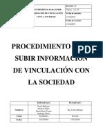 PROCEDIMIENTO PARA SUBIR INFORMACIÓN DE VINCULACIÓN CON LA SOCIEDAD