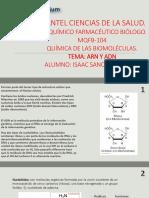 PLANTEL CIENCIAS DE LA SALUD ARN Y ADN