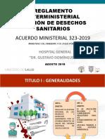 AM 323 REGLAMENTO GESTION DE DESECHOS 2019