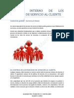 CONTROL INTERNO DE LOS PROCESOS DE SERVICIO AL CLIENTE