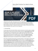 Data Center Operations Best Practices - as listed on vxchnge.com