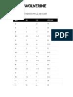 wolverine-timberland  shoe size charts